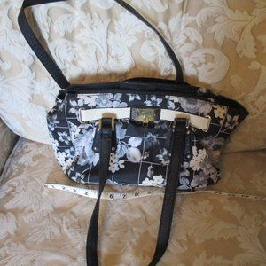 Lovely Floral Black and White Rosetti Purse Bag